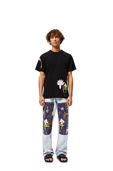 LOEWE Patch trousers in mermaid cotton Light Blue/Multicolor pdp_rd