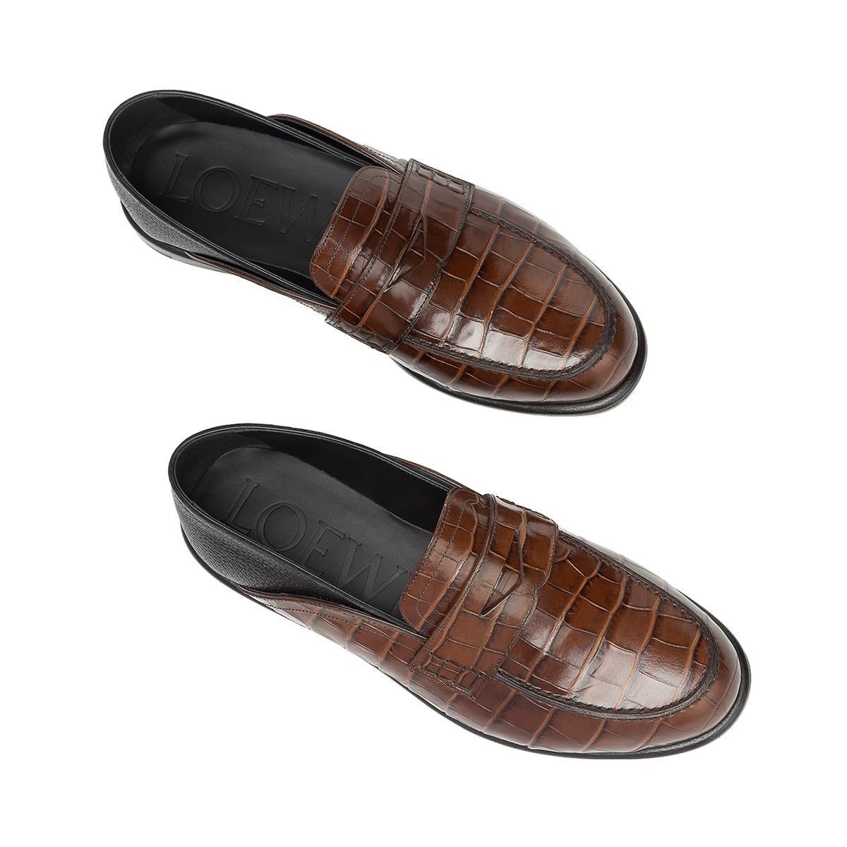 LOEWE Slip On Loafer Marron/Negro all