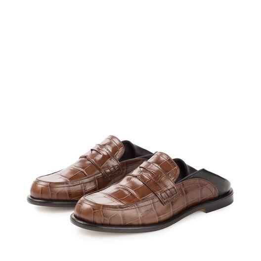 LOEWE Slip On Loafer 深棕色/黑色 all