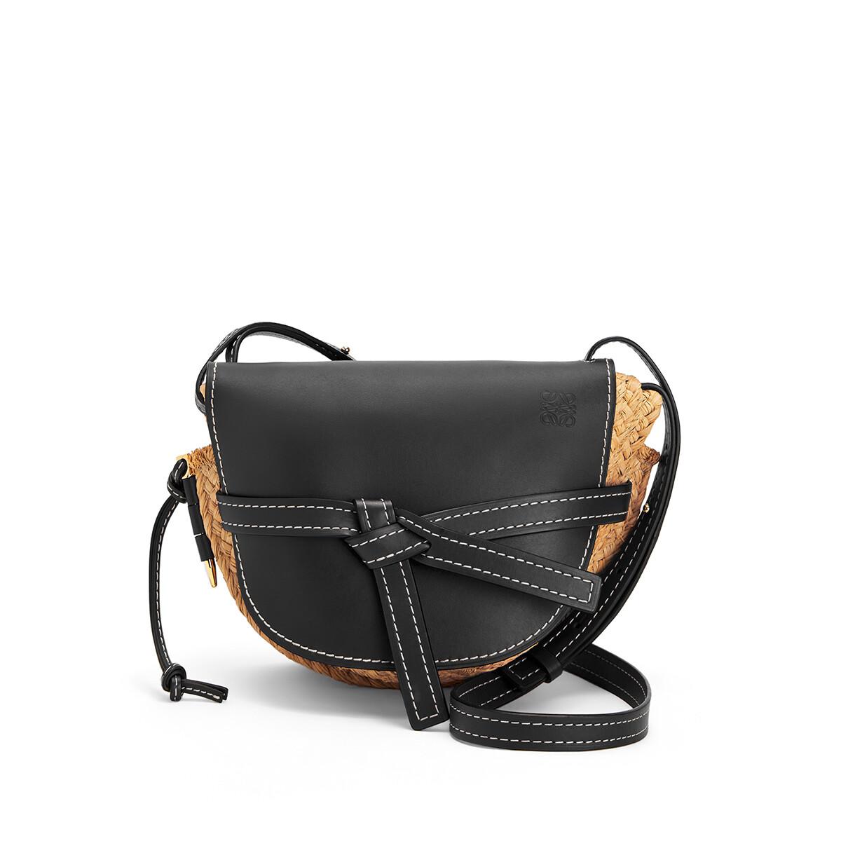 LOEWE Gate Small Bag Black/Natural front