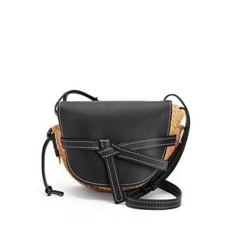 LOEWE Gate Small Bag Black/Natural front