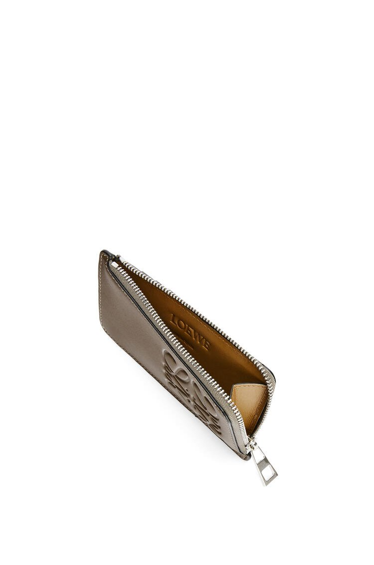 LOEWE Brand coin cardholder in smooth calfskin Khaki Brown pdp_rd