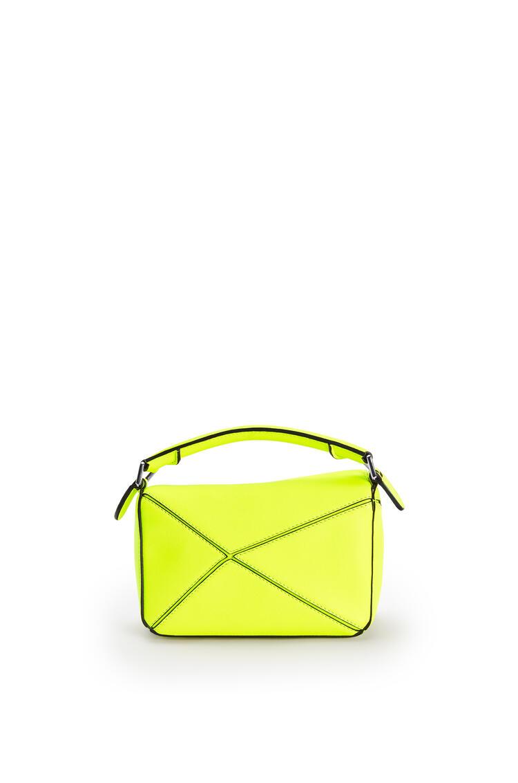 LOEWE Mini Puzzle bag in classic calfskin Neon Yellow pdp_rd