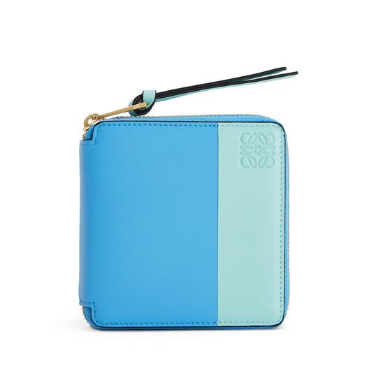 Color Block Square Zip Wallet