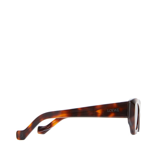 LOEWE Geometric Cateye Sunglasses Havana/Brown front