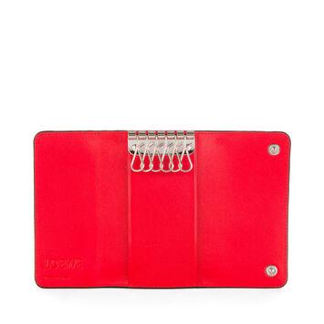 LOEWE 6 Keys Keyring Primary Red front