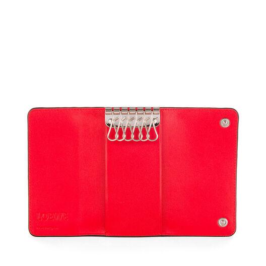 LOEWE 6 Keys Keyring Primary Red all