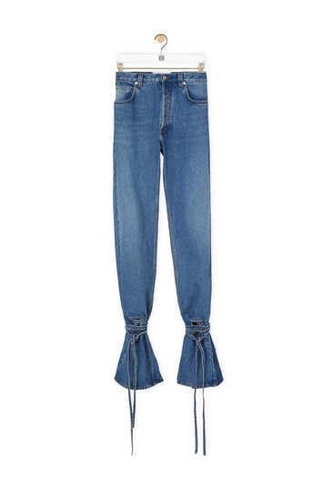 LOEWE Cut Off Denim Trousers Azul front