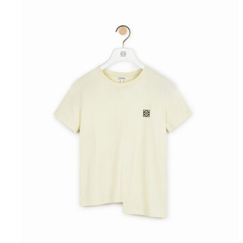 LOEWE Asymmetric Anagram T-Shirt Light Yellow front