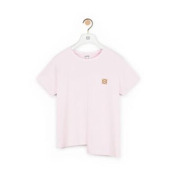 LOEWE Asymmetric T-Shirt Rosa Palo front