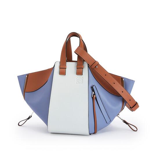 LOEWE Small Hammock Bag In Classic Calfskin Blueberry/Kaolin front
