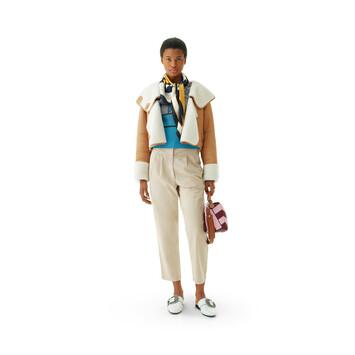LOEWE Shearling Jacket キャメル front