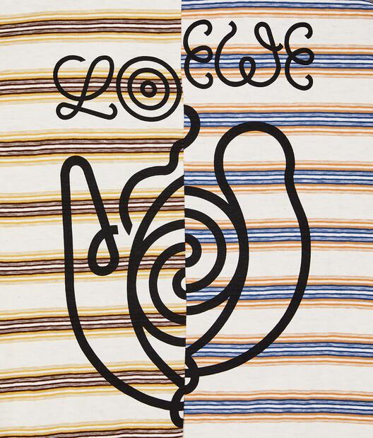 LOEWE Eln Stripe Asymmetric T-Shirt Multicolor front