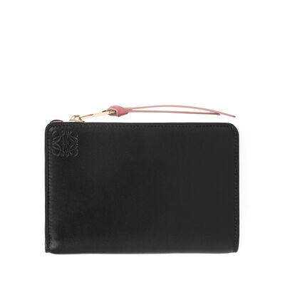 LOEWE Small Zip Wallet Black/Candy front