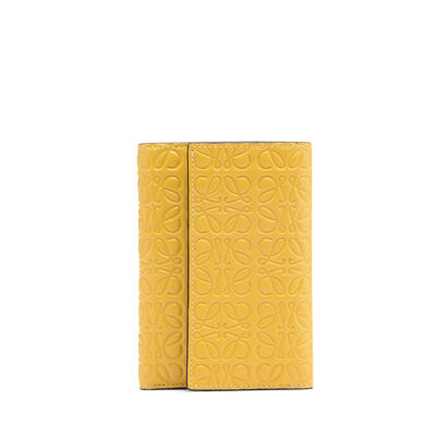LOEWE Small Vertical Wallet Yellow Mango front