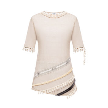 LOEWE Tassel Loewe T-Shirt Beige front