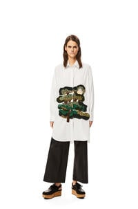 LOEWE Totoro Crafty Tree oversize shirt in cotton and wool White pdp_rd