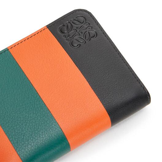 LOEWE Stripes 6 Card Holder Orange/Green front