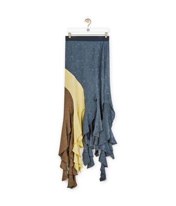 LOEWE Curl Skirt Jacquard Azul/Multicolor front