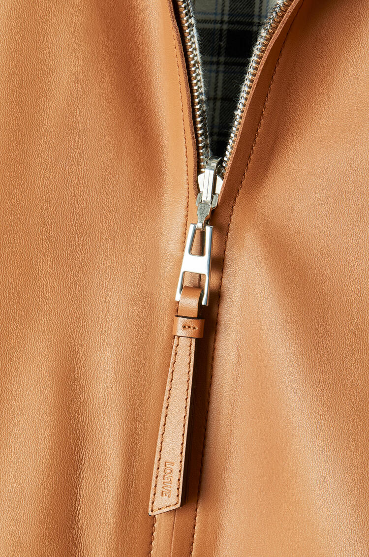 LOEWE Reversible zip blouson in nappa Tan pdp_rd