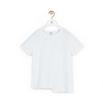 LOEWE Asymmetric T-Shirt Blanco front