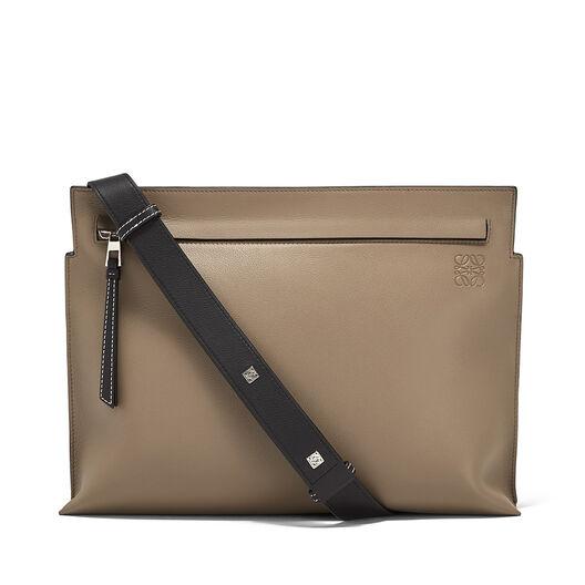 LOEWE T Messenger Bag Dark Taupe/Military Green/Bl all