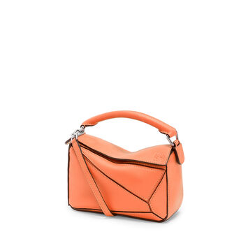 LOEWE Mini Puzzle Bag Bright Peach front