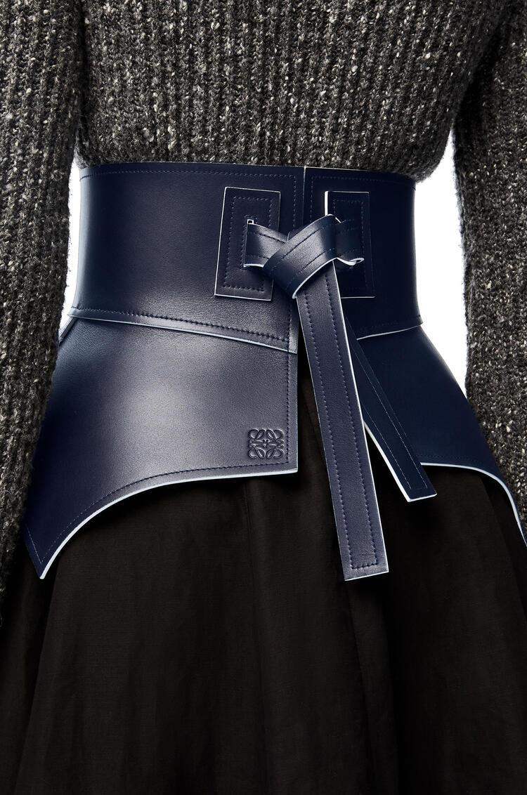 LOEWE Obi belt in nappa Navy/White pdp_rd