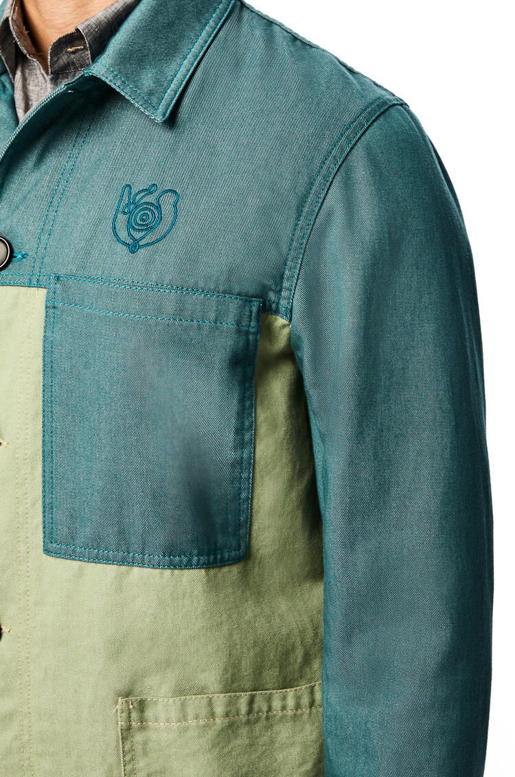 LOEWE Workwear jacket in cotton Green pdp_rd