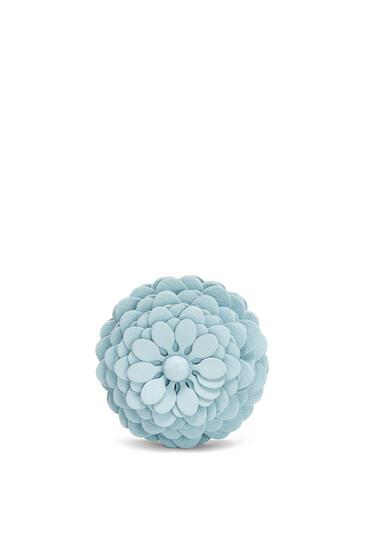 LOEWE Stud Flower charm in calfskin Crystal Blue pdp_rd