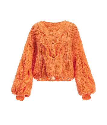 LOEWE Cable Sweater Naranja front