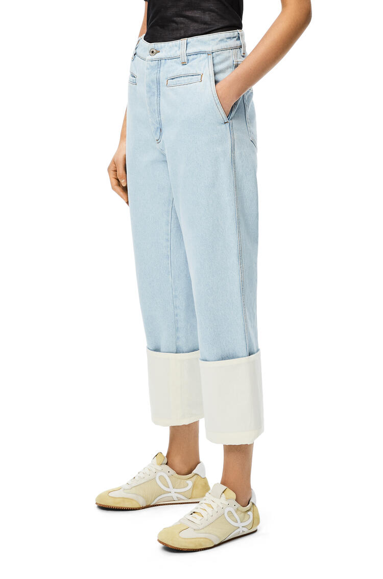 LOEWE Fisherman jeans in denim Light Blue pdp_rd