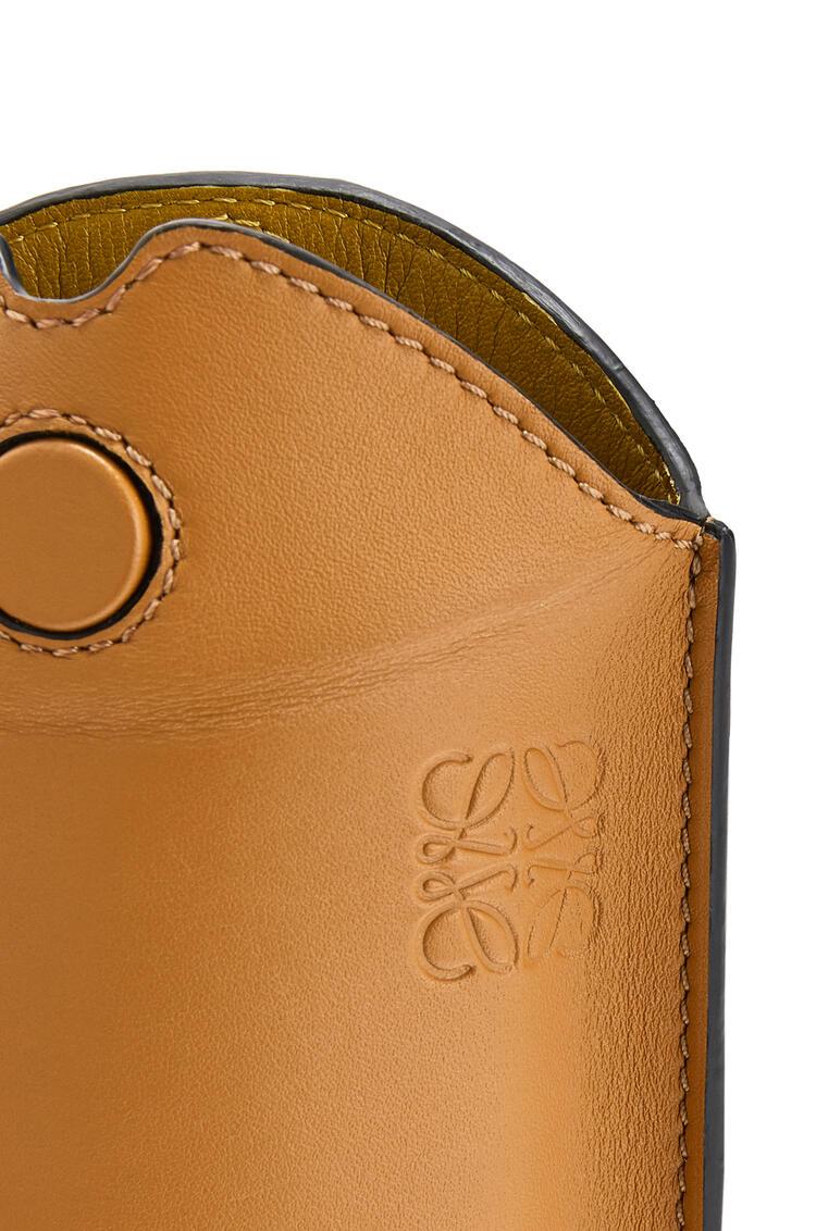 LOEWE Gate pocket in calfskin and snakeskin Honey/Multicolor pdp_rd