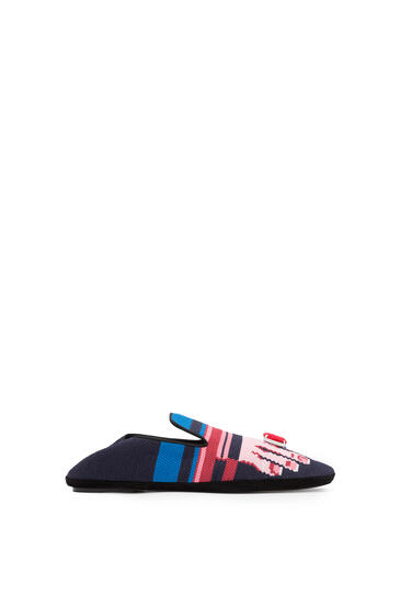 LOEWE Embroidered Slipper Toes Navy Blue/Pink pdp_rd