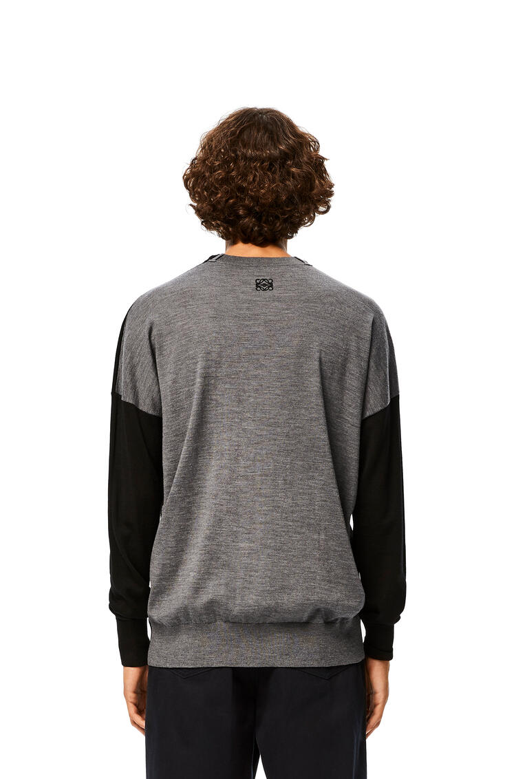 LOEWE Jersey Anagrama en cashmere con Negro/Gris pdp_rd