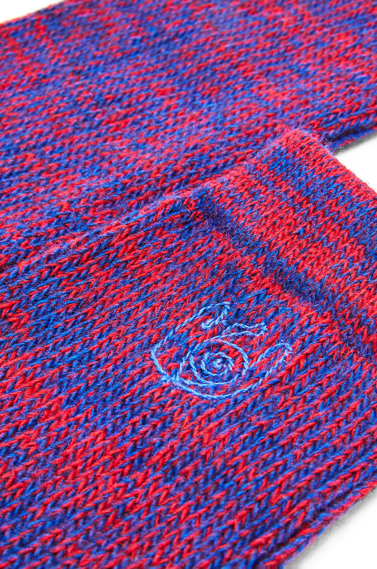 LOEWE Socks In Polyester Red/Blue pdp_rd
