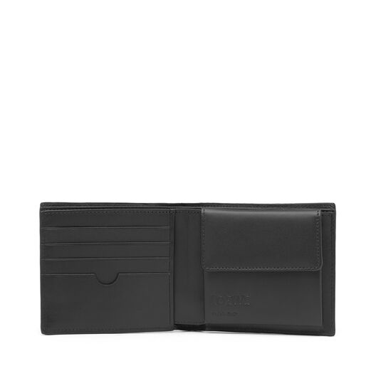 LOEWE Puzzle Bifold Coin Wallet 海军蓝 front