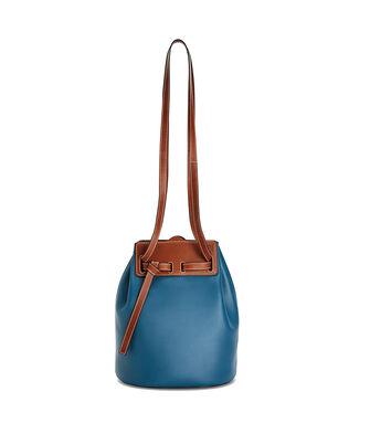 LOEWE Lazo Bucket Bag Petroleum Blue front