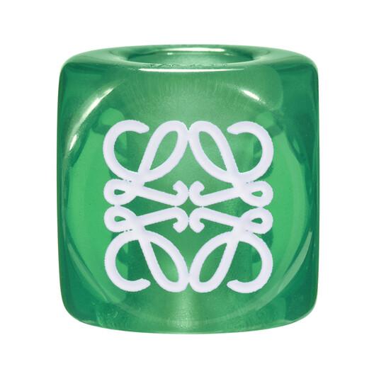 LOEWE Anagram Big Dice Green front
