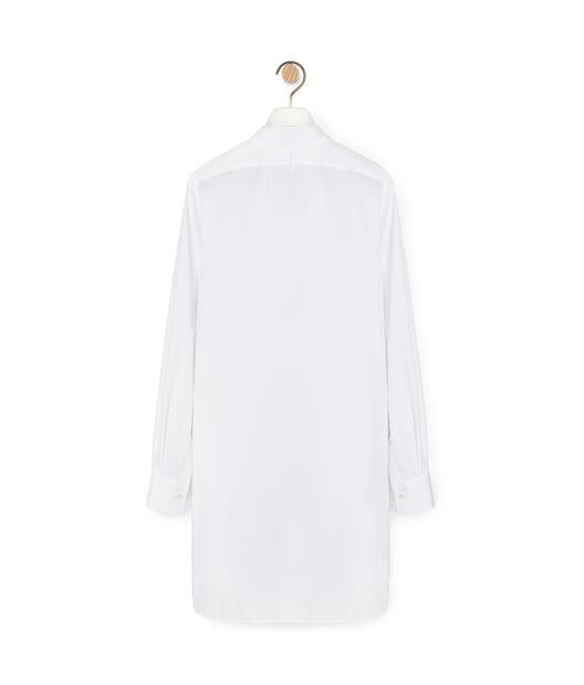 LOEWE Long Asymmetric Shirt Blanco front