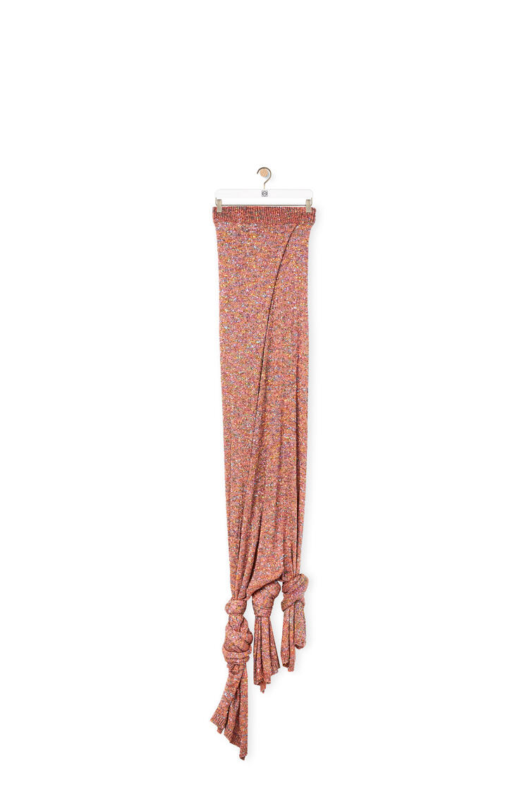 LOEWE Knot knit skirt Old Pink pdp_rd