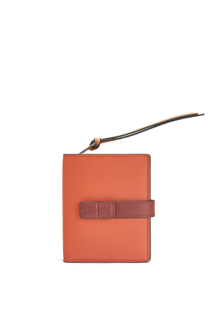 LOEWE Compact zip wallet in soft grained calfskin Coral/Soft Apricot pdp_rd