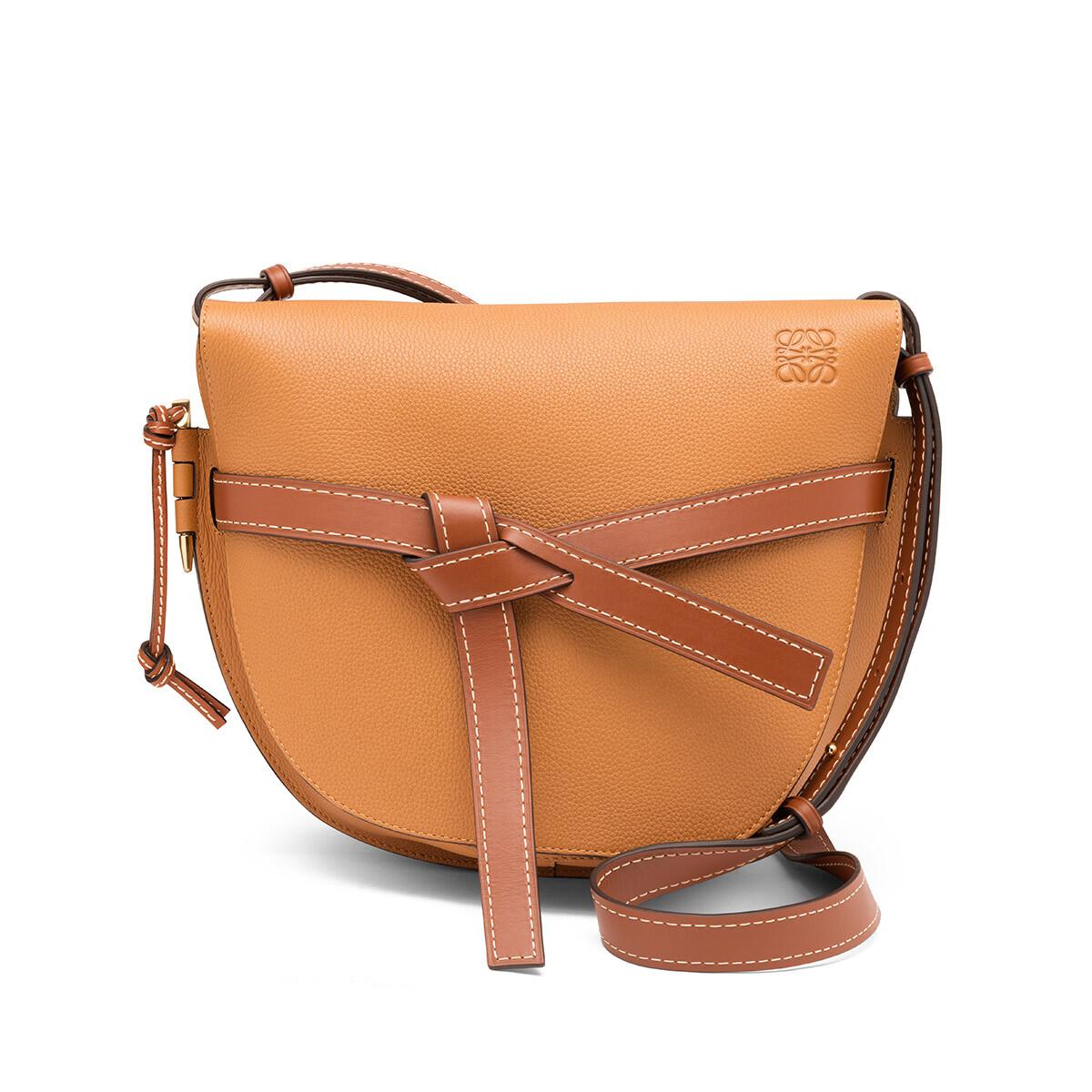 LOEWE Gate Bag Light Caramel/Pecan Color  front