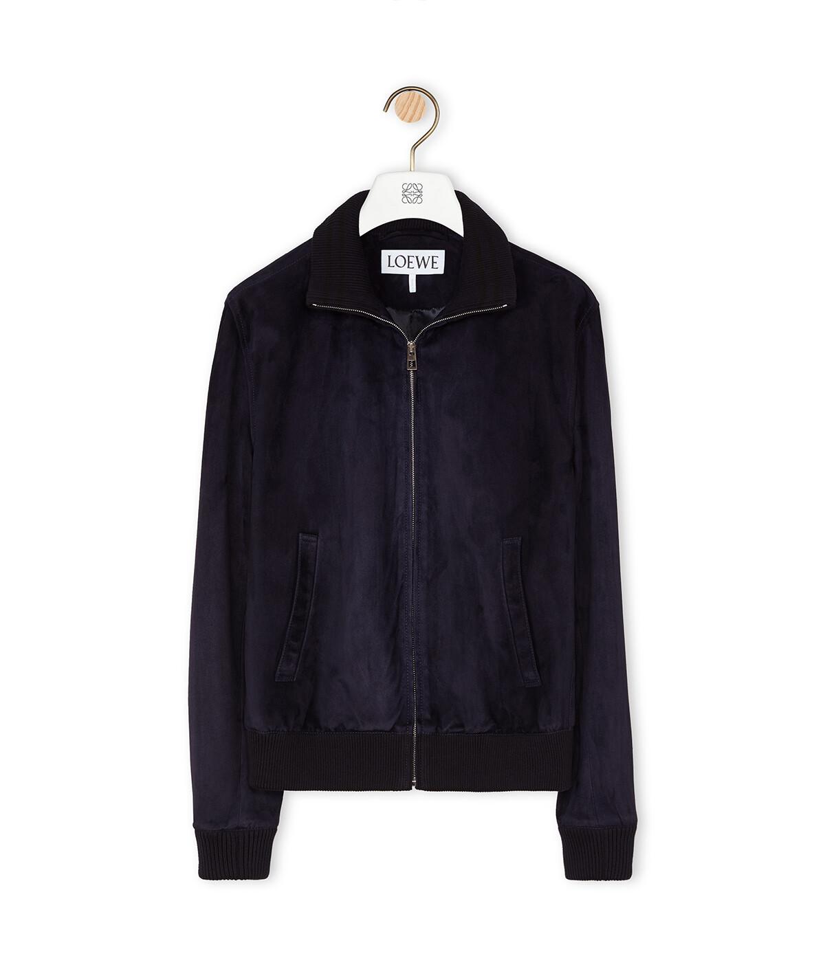 LOEWE Zip Jacket Dark Navy Blue front