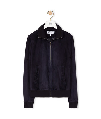 LOEWE Zip Jacket Dark Navy Blue front