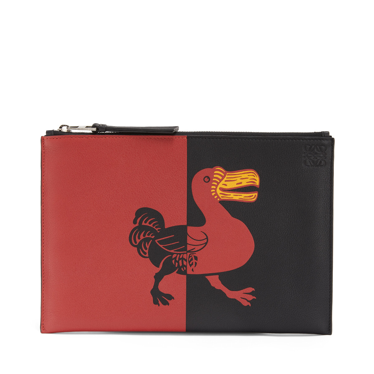 LOEWE Flat Pouch Herald 黑色/红色 front