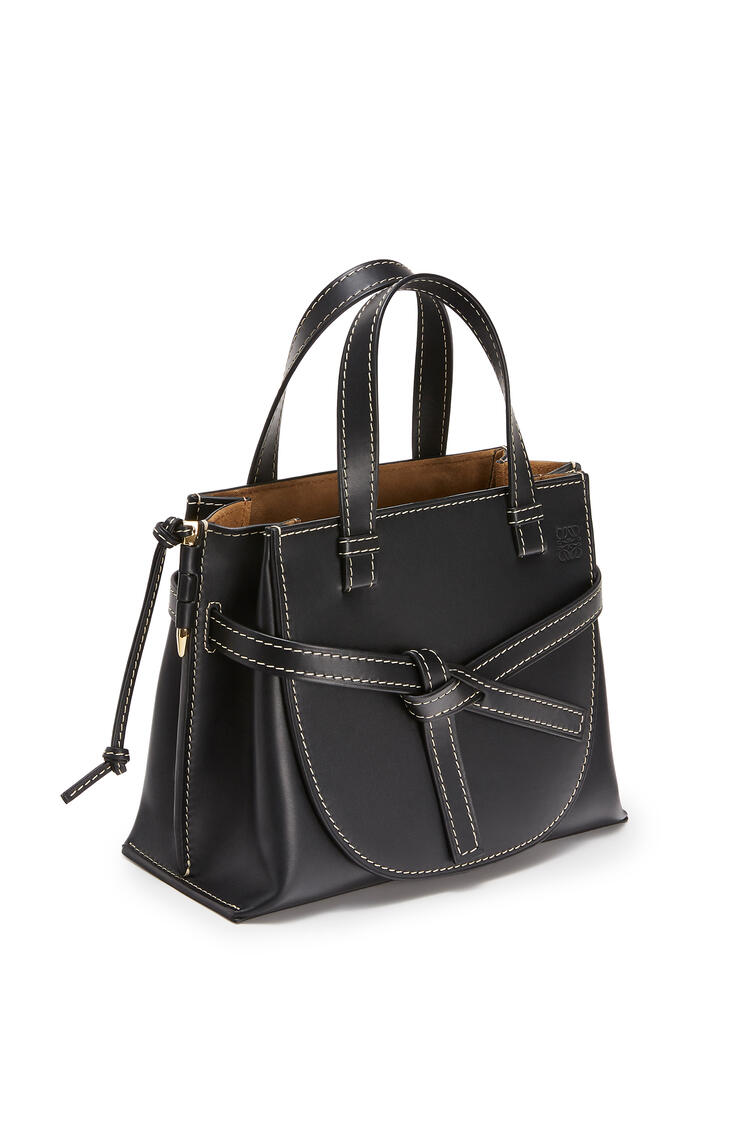 LOEWE Gate Top Handle bag in natural calfskin Black pdp_rd