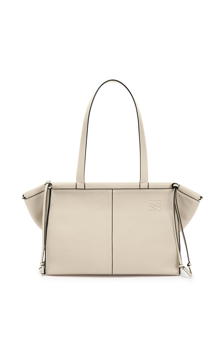 LOEWE Cushion Tote Small Bag In Soft Grained Calfskin Light Oat pdp_rd