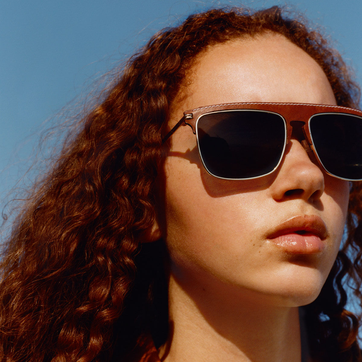 LOEWE Square Sunglasses Brown/Dark Brown all