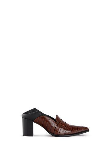 LOEWE Pointy Loafer 70 In Calfskin 咖啡色/黑 pdp_rd
